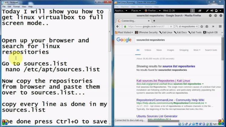 Full Screen Linux